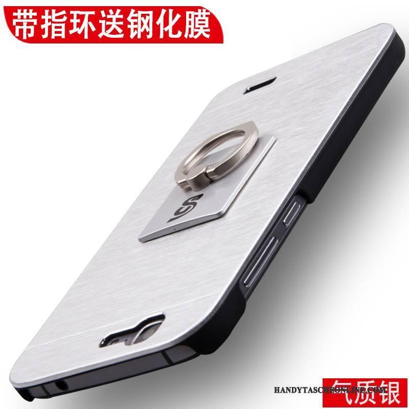 Hülle Huawei Ascend G7 Metall Nubuck Schwer, Case Huawei Ascend G7 Schutz Anti-sturz Handyhüllen