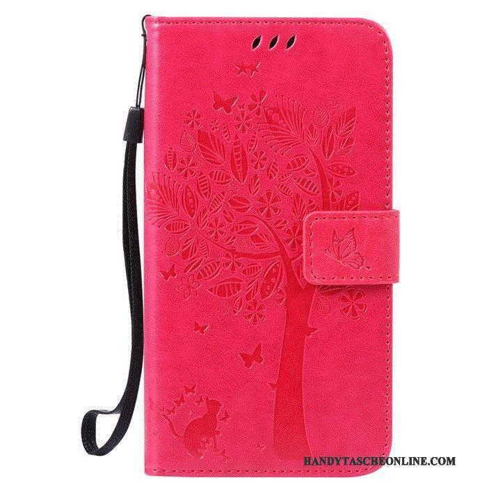 Hülle Huawei G7 Plus Lederhülle Lila Fenster Öffnen, Case Huawei G7 Plus Folio Handyhüllen Anti-sturz