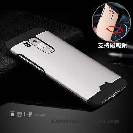 Hülle Huawei G9 Plus Kreativ Nubuck Kühlung, Case Huawei G9 Plus Metall Schwer Silber