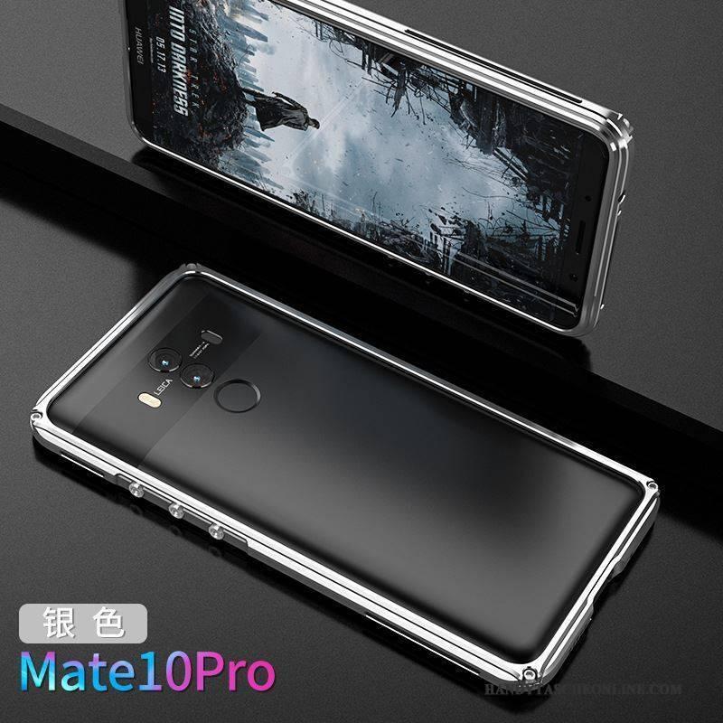Hülle Huawei Mate 10 Pro Metall Rot Grenze, Case Huawei Mate 10 Pro Kreativ Persönlichkeit Handyhüllen