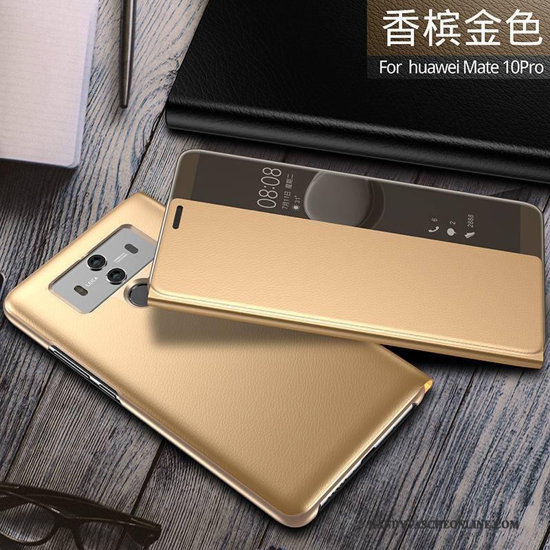 Hülle Huawei Mate 10 Pro Taschen Handyhüllen Schwarz, Case Huawei Mate 10 Pro Folio Anti-sturz