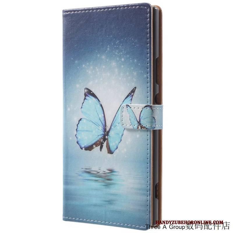 Hülle Huawei Mate 20 Lite Folio Schwer Handyhüllen, Case Huawei Mate 20 Lite Lederhülle Blau Anti-sturz