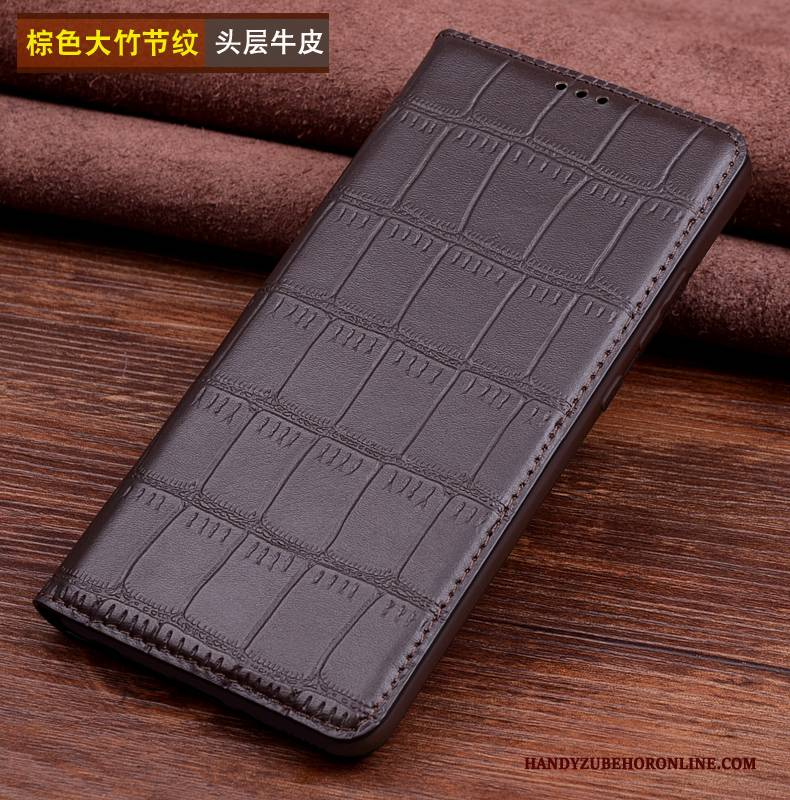 Hülle Huawei Mate 20 Rs Leder Handyhüllen Schwarz, Case Huawei Mate 20 Rs Taschen Anti-sturz Kuh