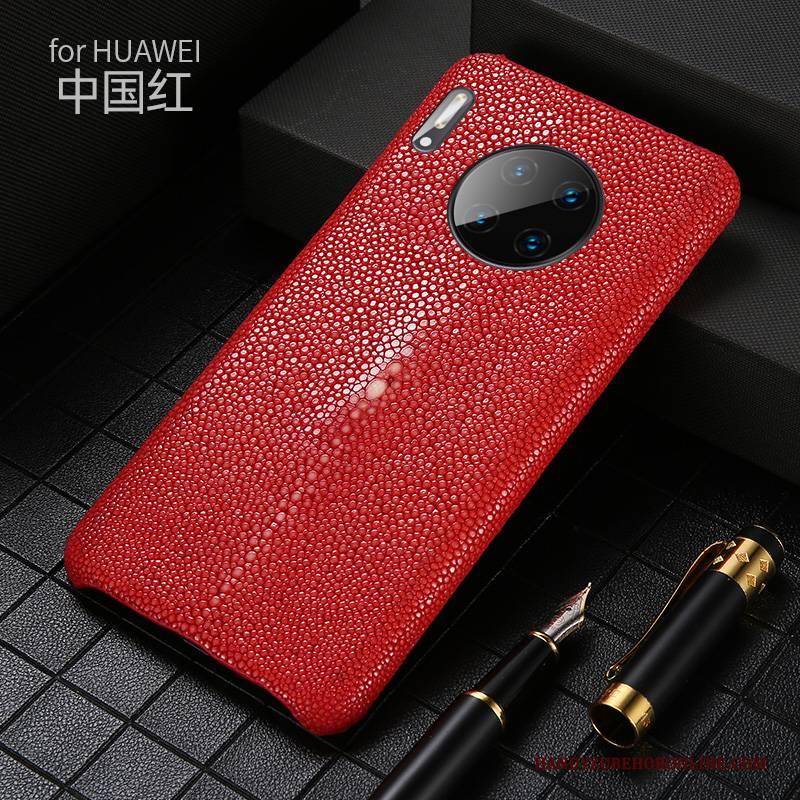 Hülle Huawei Mate 30 Classic Perlen Angepasst, Case Huawei Mate 30 Leder Handyhüllen Neu