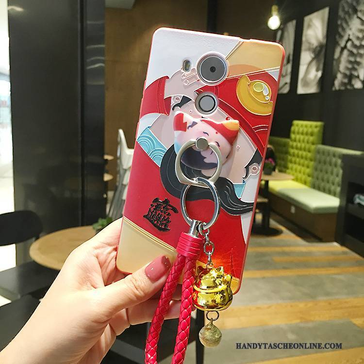 Hülle Huawei Mate 8 Silikon Anti-sturz Nubuck, Case Huawei Mate 8 Taschen Rot Handyhüllen