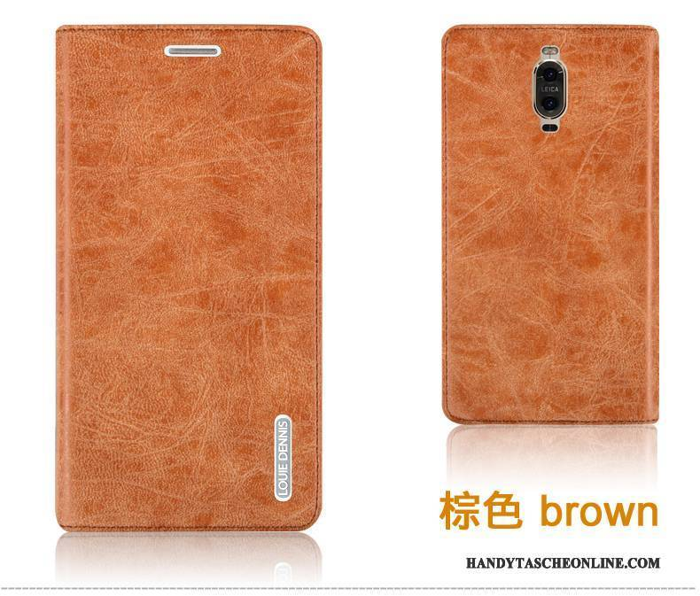 Hülle Huawei Mate 9 Pro Schutz Anti-sturz Dunkelblau, Case Huawei Mate 9 Pro Lederhülle Handyhüllen