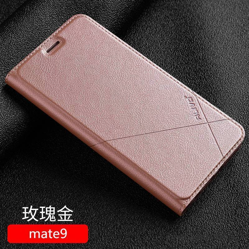 Hülle Huawei Mate 9 Schutz Anti-sturz Handyhüllen, Case Huawei Mate 9 Taschen Schwarz