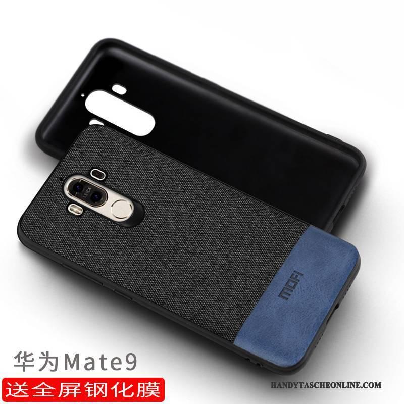 Hülle Huawei Mate 9 Taschen Dunkel Grau, Case Huawei Mate 9 Schutz Handyhüllen Anti-sturz