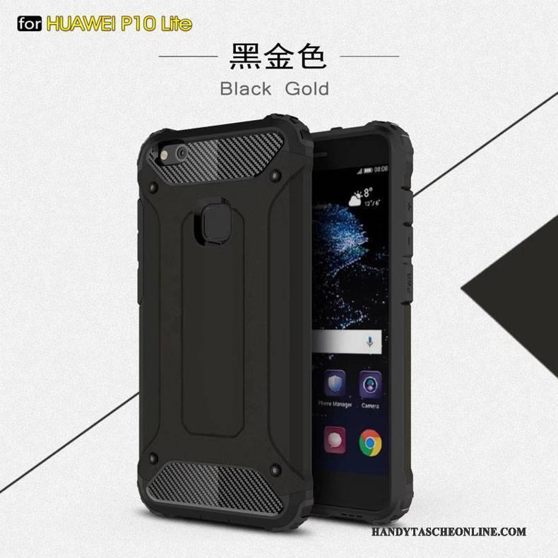 Hülle Huawei P10 Lite Schutz Anti-sturz Blau, Case Huawei P10 Lite Metall Drei Verteidigungen Ballon