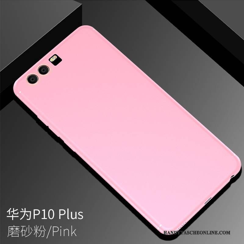 Hülle Huawei P10 Plus Weiche Schlank Nubuck, Case Huawei P10 Plus Silikon Handyhüllen Schwarz