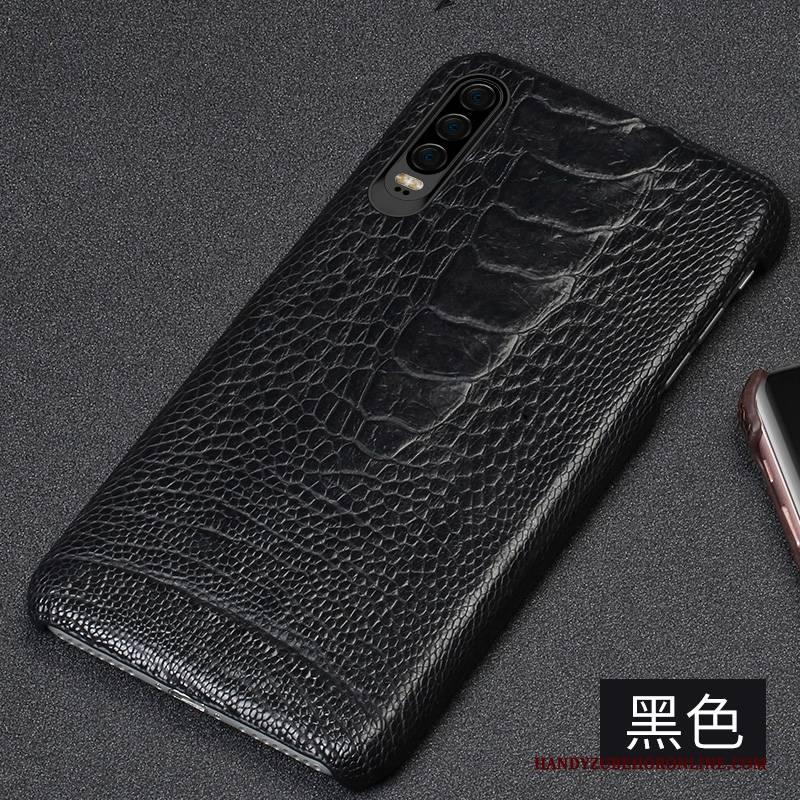 Hülle Huawei P30 Leder Handyhüllen Persönlichkeit, Case Huawei P30 Lederhülle Anti-sturz High-end