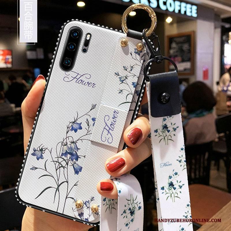 Hülle Huawei P30 Pro Silikon Kunst Handyhüllen, Case Huawei P30 Pro Weiche Trend Blumen
