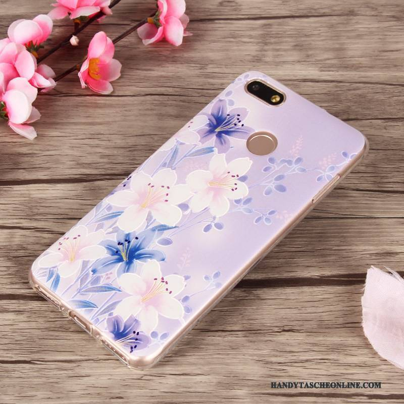 Hülle Huawei Y6 Pro 2017 Farbe Mesh Anti-sturz, Case Huawei Y6 Pro 2017 Schutz Handyhüllen