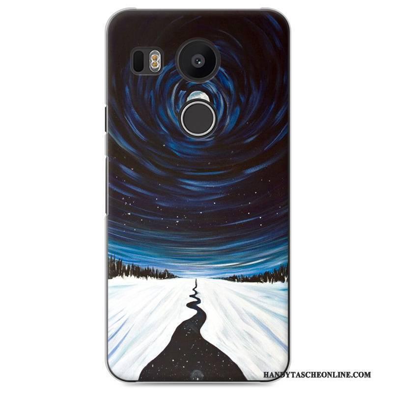 Hülle Lg Nexus 5x Gemalt Anti-sturz Schwer, Case Lg Nexus 5x Blau Handyhüllen