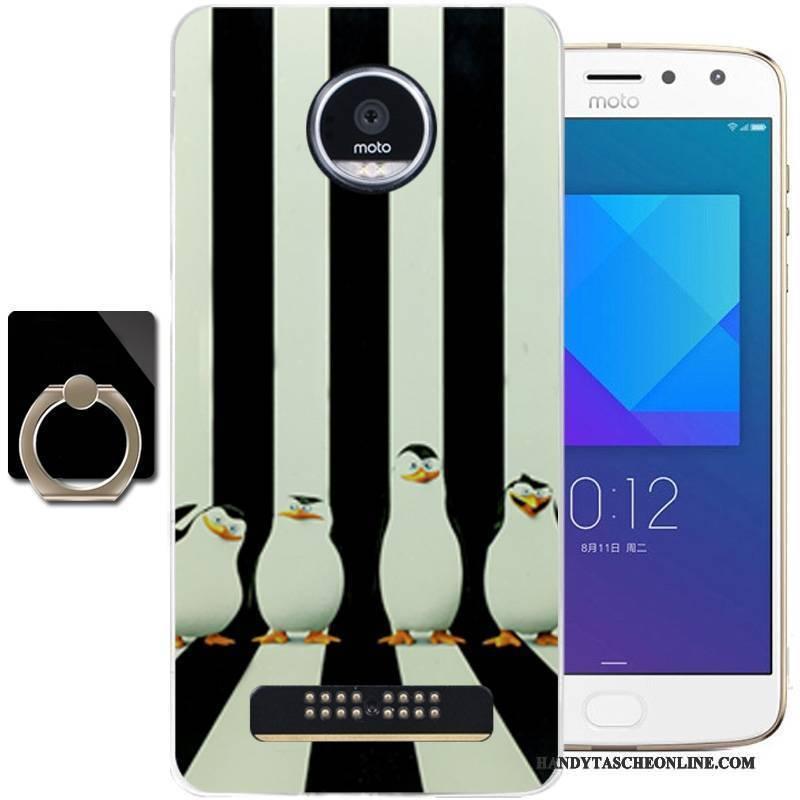 Hülle Moto Z2 Play Weiche Frisch Handyhüllen, Case Moto Z2 Play Silikon Blau
