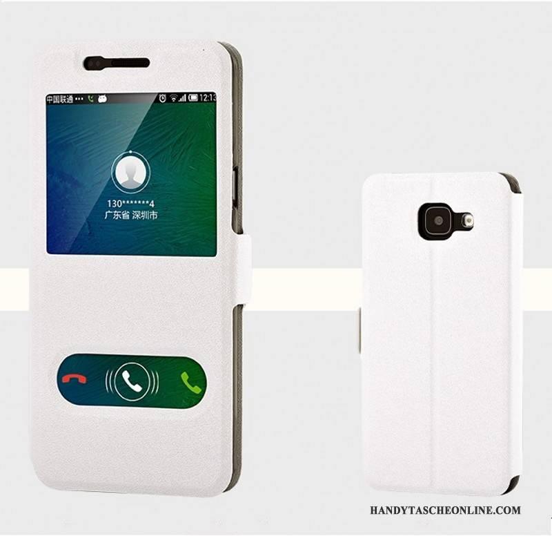 Hülle Samsung Galaxy A5 2016 Lederhülle Trend Handyhüllen, Case Samsung Galaxy A5 2016 Schutz Rosa