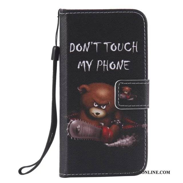 Hülle Samsung Galaxy J3 2015 Gemalt Membran Hängende Verzierungen, Case Samsung Galaxy J3 2015 Taschen Schwarz Frisch
