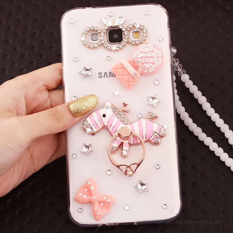Hülle Samsung Galaxy J5 2016 Farbe Ring Handyhüllen, Case Samsung Galaxy J5 2016 Kristall Anti-sturz