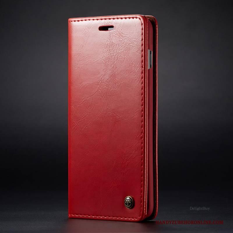 Hülle Samsung Galaxy Note 10+ Leder Handyhüllen Karte, Case Samsung Galaxy Note 10+ Geldbörse Rot