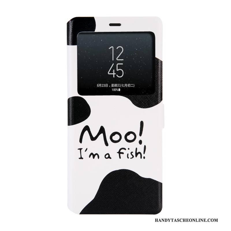 Hülle Samsung Galaxy Note 8 Gemalt Handyhüllen Fenster Öffnen, Case Samsung Galaxy Note 8 Weiche Blau Trend
