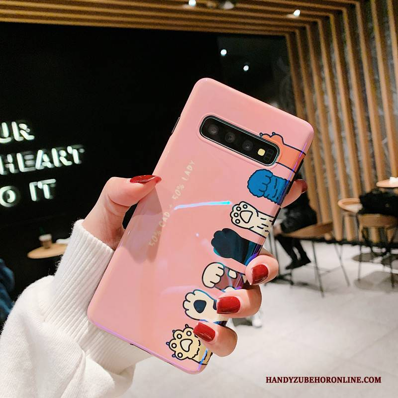 Hülle Samsung Galaxy S10 Weiche Liebhaber Handyhüllen, Case Samsung Galaxy S10 Silikon Katzen Pulver