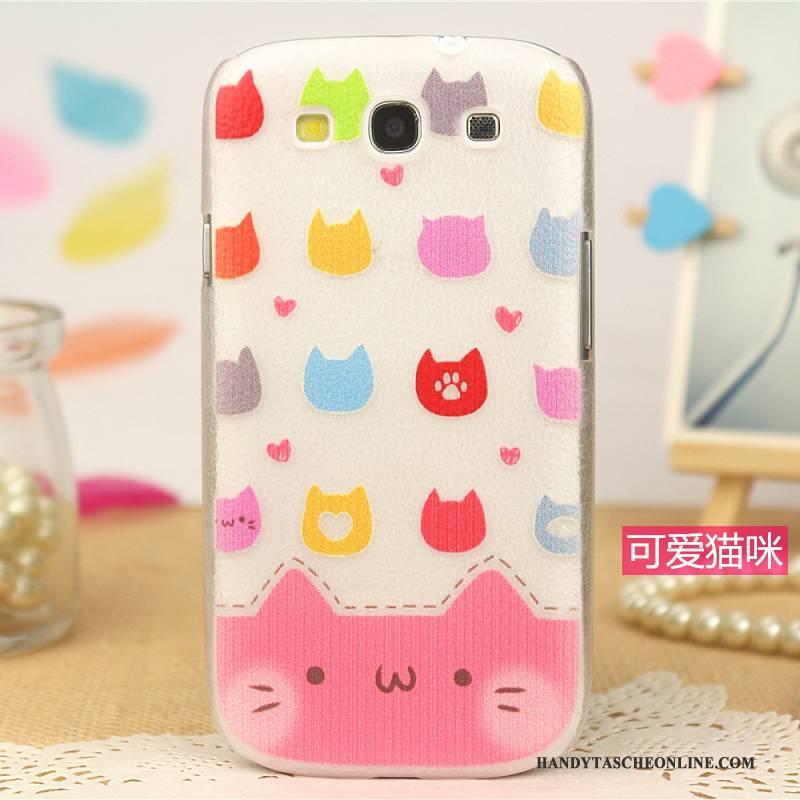 Hülle Samsung Galaxy S3 Leder Handyhüllen Muster, Case Samsung Galaxy S3 Schutz Trend Rosa