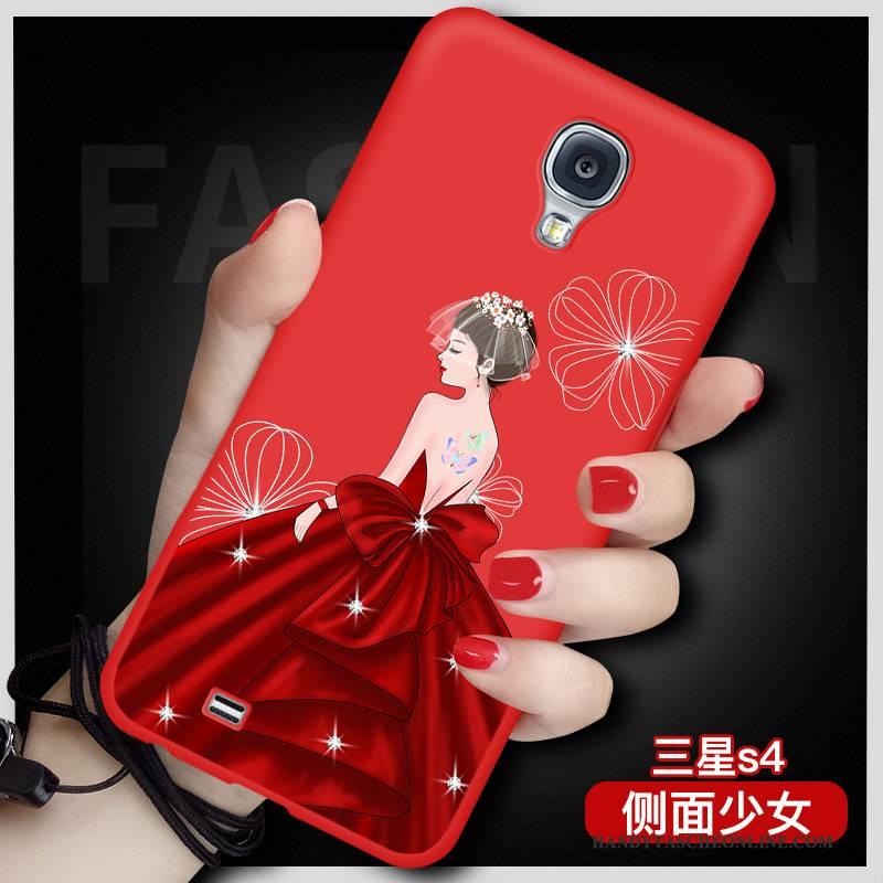 Hülle Samsung Galaxy S4 Karikatur Handyhüllen Rot, Case Samsung Galaxy S4 Taschen Anti-sturz