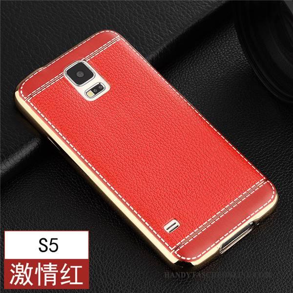 Hülle Samsung Galaxy S5 Schutz Handyhüllen Braun, Case Samsung Galaxy S5 Weiche Dünne Nubuck