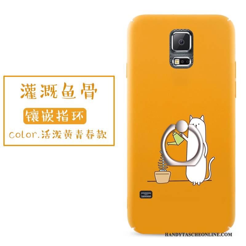 Hülle Samsung Galaxy S5 Taschen Rot Nubuck, Case Samsung Galaxy S5 Kreativ Handyhüllen Persönlichkeit