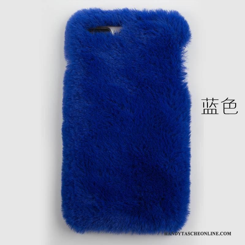 Hülle Samsung Galaxy S6 Edge + Weiche Rosa Plüsch, Case Samsung Galaxy S6 Edge + Kaninchenfell Nette