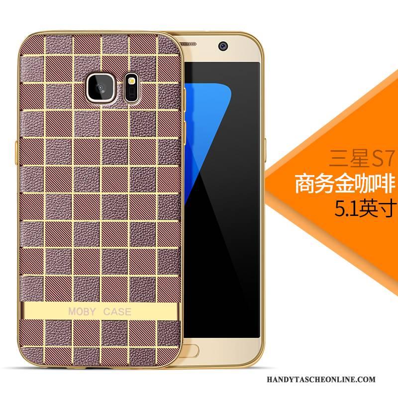 Hülle Samsung Galaxy S7 Silikon Anti-sturz Business, Case Samsung Galaxy S7 Weiche Rosa Leicht