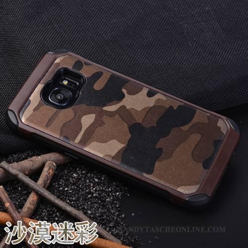 Hülle Samsung Galaxy S7 Silikon Persönlichkeit Tarnung, Case Samsung Galaxy S7 Schutz Anti-sturz Handyhüllen