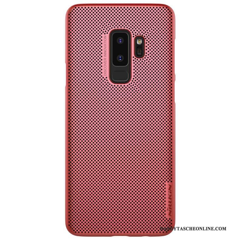 Hülle Samsung Galaxy S9+ Schutz Kühlung Atmungsaktiv, Case Samsung Galaxy S9+ Rot Gold