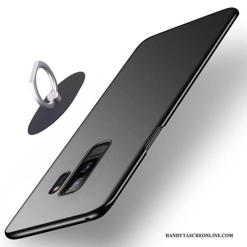 Hülle Samsung Galaxy S9+ Taschen Blau Nubuck, Case Samsung Galaxy S9+ Schutz Anti-sturz Handyhüllen