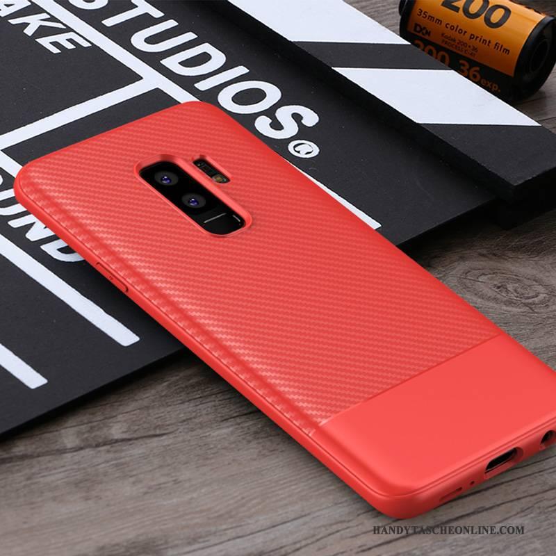 Hülle Samsung Galaxy S9+ Weiche Schwarz Handyhüllen, Case Samsung Galaxy S9+ Silikon Grau Anti-sturz