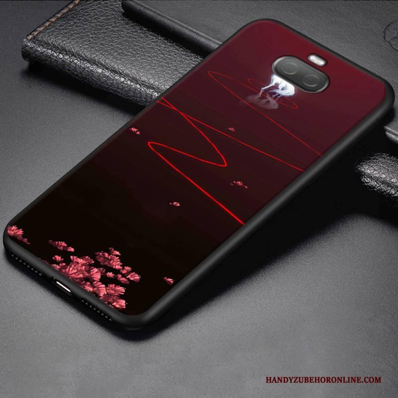 Hülle Sony Xperia 10 Karikatur Persönlichkeit Anti-sturz, Case Sony Xperia 10 Schutz Rot Trend