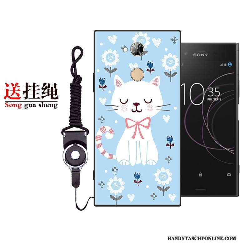 Hülle Sony Xperia Xa2 Weiche Anti-sturz Handyhüllen, Case Sony Xperia Xa2 Karikatur Lila Nette
