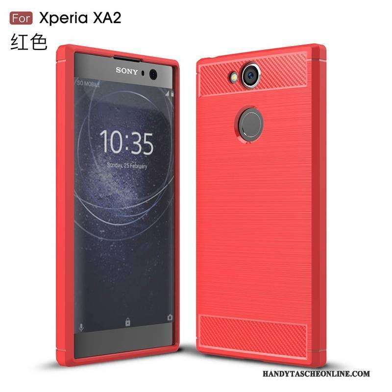 Hülle Sony Xperia Xa2 Weiche Anti-sturz Rot, Case Sony Xperia Xa2 Taschen Handyhüllen Muster