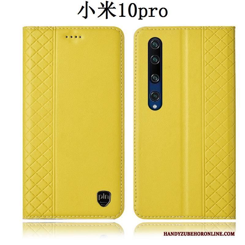 Hülle Xiaomi Mi 10 Pro Folio Gelb Anti-sturz, Case Xiaomi Mi 10 Pro Schutz Handyhüllen Mini