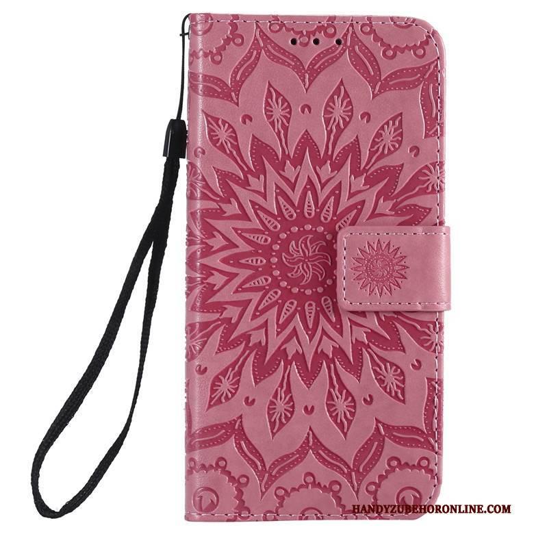 Hülle Xiaomi Mi 10 Pro Folio Rot Handyhüllen, Case Xiaomi Mi 10 Pro Lederhülle Sonne Mini
