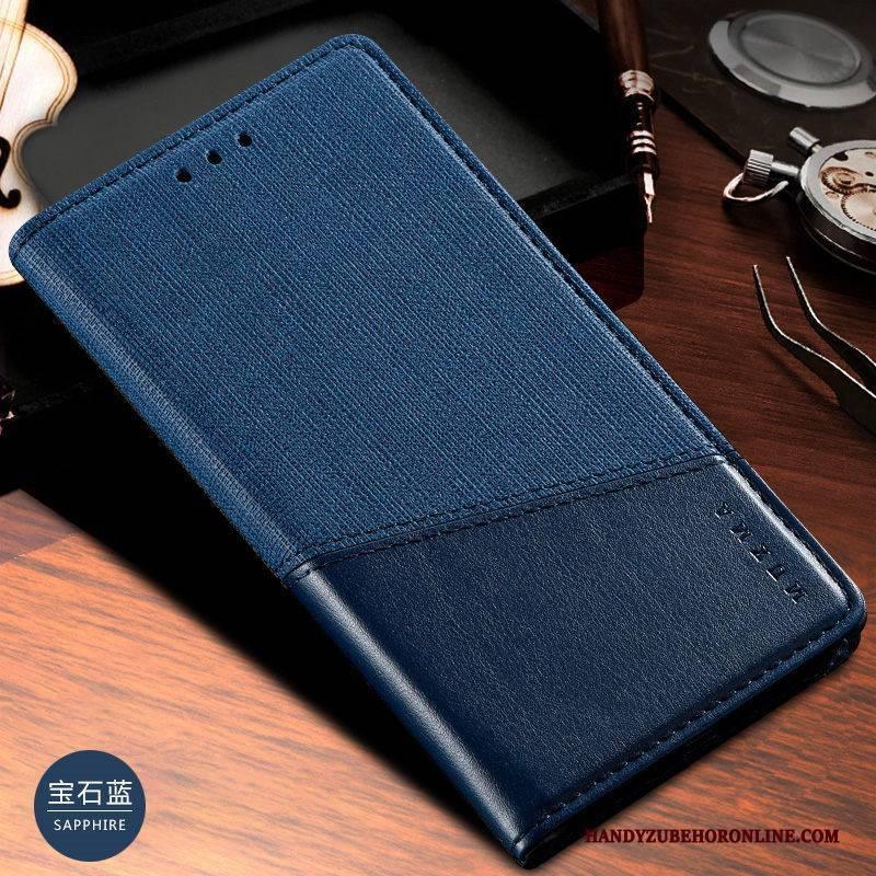 Hülle Xiaomi Mi 10 Pro Lederhülle Mini Muster, Case Xiaomi Mi 10 Pro Schutz Nähen Business