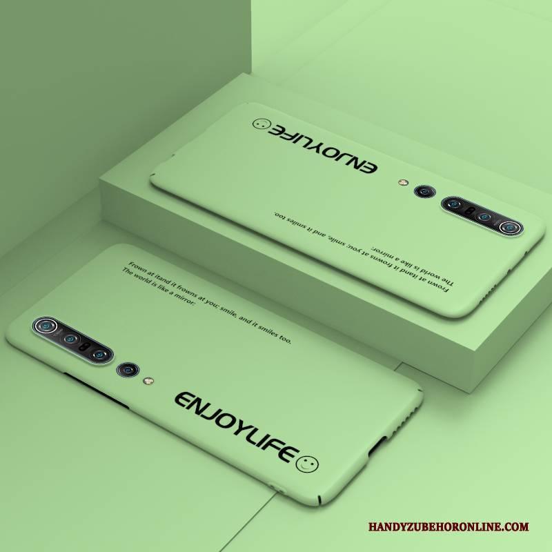 Hülle Xiaomi Mi 10 Pro Schutz Anti-sturz Einfach, Case Xiaomi Mi 10 Pro Taschen Grün Handyhüllen