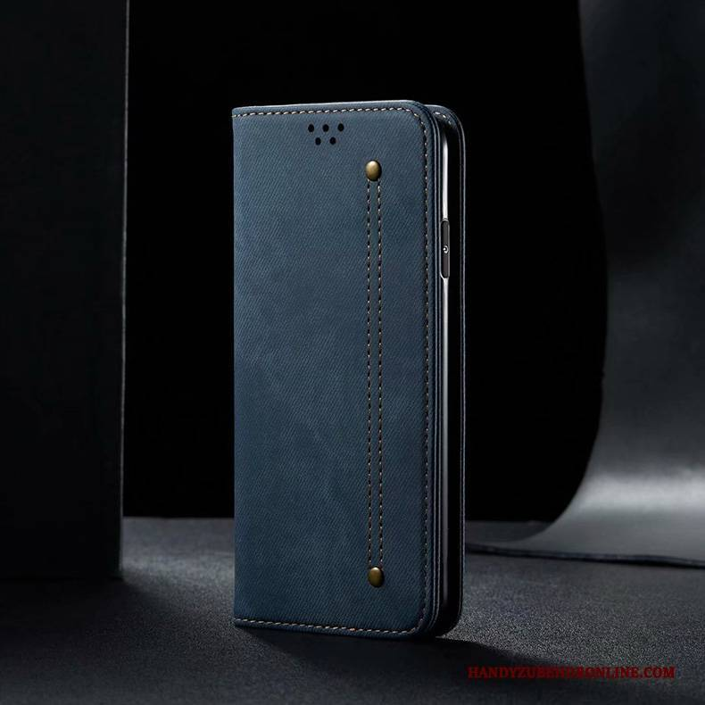 Hülle Xiaomi Mi 10 Pro Schutz Mini Handyhüllen, Case Xiaomi Mi 10 Pro Folio Einfach Blau