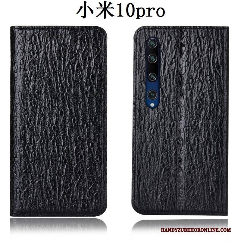 Hülle Xiaomi Mi 10 Pro Schutz Rot Muster, Case Xiaomi Mi 10 Pro Folio Anti-sturz Handyhüllen