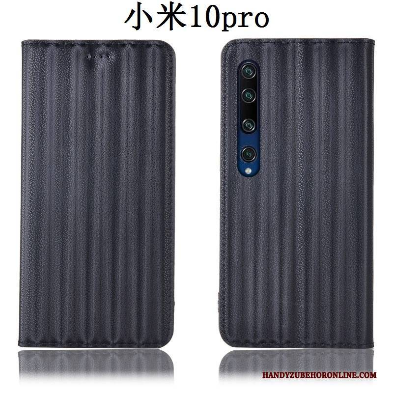 Hülle Xiaomi Mi 10 Pro Taschen Anti-sturz Blau, Case Xiaomi Mi 10 Pro Folio Farbverlauf Mini