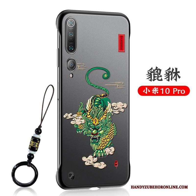 Hülle Xiaomi Mi 10 Pro Weiche Chinesische Art Liebhaber, Case Xiaomi Mi 10 Pro Prägung Nubuck Mini