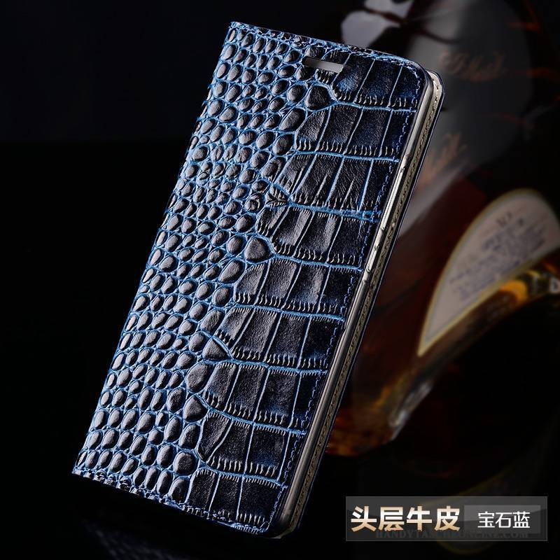 Hülle iPhone 5/5s Schutz Anti-sturz Handyhüllen, Case iPhone 5/5s Leder Dunkelblau Angepasst