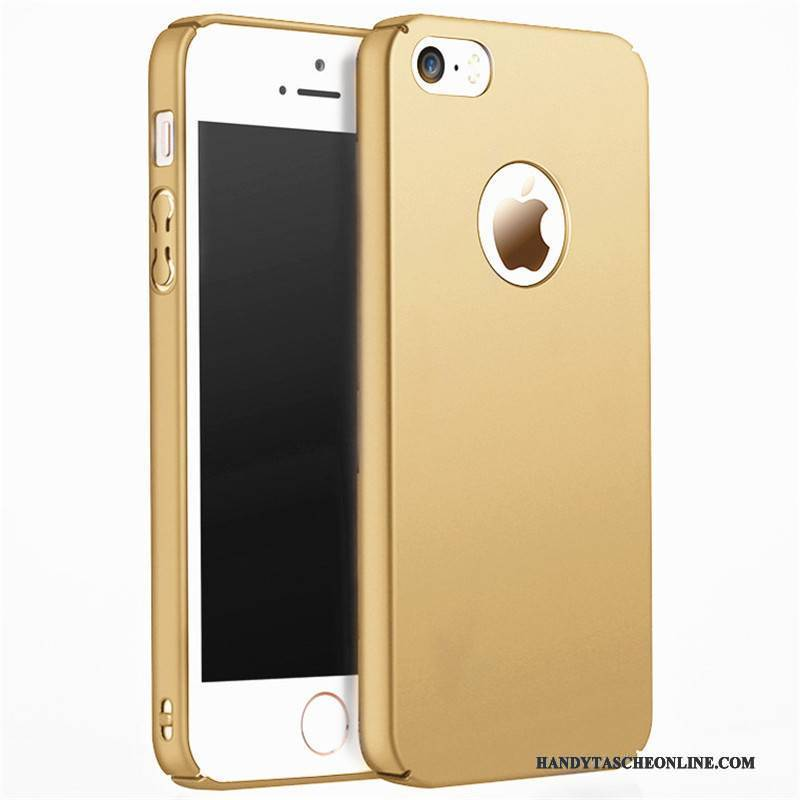 Hülle iPhone 5/5s Schutz Gold Schwer, Case iPhone 5/5s Nubuck Handyhüllen