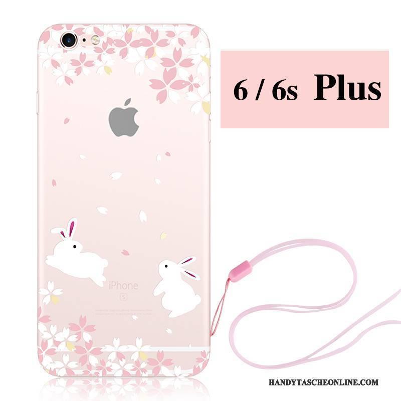 Hülle iPhone 6/6s Plus Karikatur Hängende Verzierungen Rosa, Case iPhone 6/6s Plus Silikon Sakura Handyhüllen