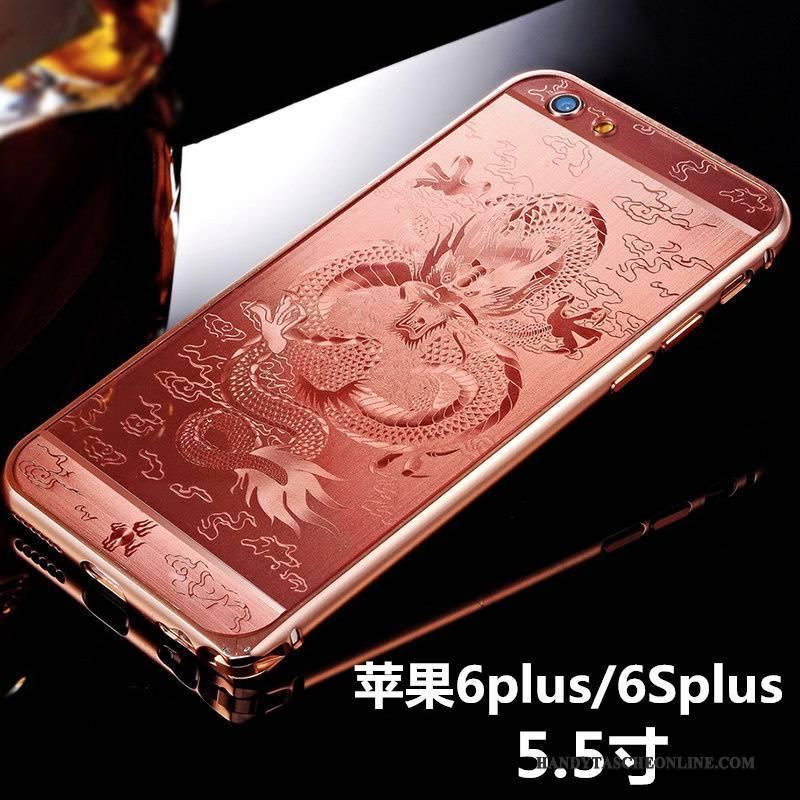 Hülle iPhone 6/6s Plus Kreativ Nubuck Handyhüllen, Case iPhone 6/6s Plus Metall Schwarz Schlank